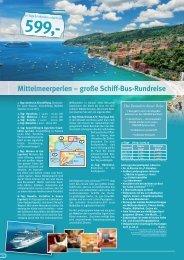 Mittelmeerperlen – große Schiff-Bus-Rundreise - HAUSER