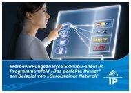 Verlaufsreaktionen im Werbeumfeld - Wirkstoff TV