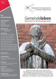Gemeindeleben - Katholische Kirchengemeinde St. Andreas