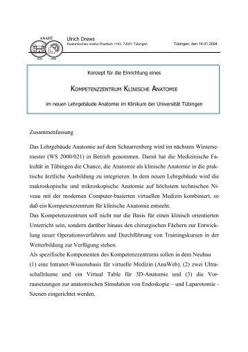 Kompetenzzentrum Klinische Anatomie - Anatomisches Institut ...