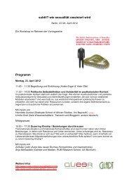Programm WSsubtil2012 - Institut für Queer Theory