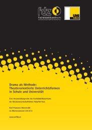 Drama als Methode: Theaterorientierte Unterrichtsformen in Schule ...