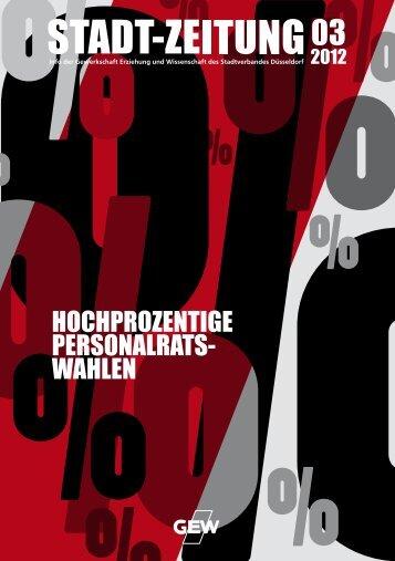 HOCHPROZENTIGE PERSONALRATS- WAHLEN - GEW