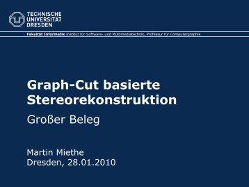 Graph-Cut basierte Stereorekonstruktion