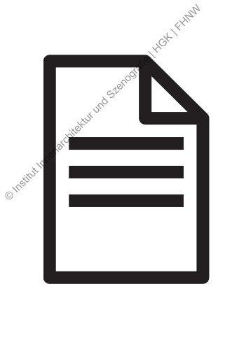 Innenarchitektur Und Szenografie partitur pia hönger institut innenarchitektur und szenografie