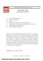 Bertolt Brecht: Baal