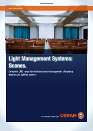 Light Management Systems: Scenes. - Osram