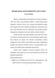 METODE VISUAL-AUDITIF-KINESTETIK-TAKTIL