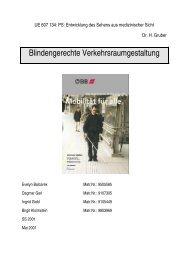 II. Blindengerechte Verkehrsraumgestaltung - Peter Adler
