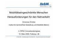 Vortrag Annerose Hintzke, (PDF, 4,5 MB) - ÖPNV Innovationskongress