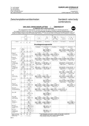 Zwischenplattenventileinheiten Sandwich valve body combinations