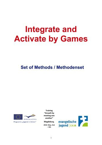 Integrate and Activate by Games Set of Methods / Methodenset