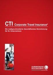CTI Corporate Travel Insurance® - Europäische Reiseversicherung