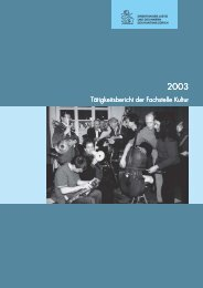 Tätigkeitsbericht Fachstelle Kultur 2003 (PDF, 372 kB)