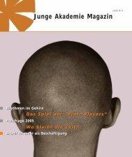 Junge Akademie Magazin - Annett Zinsmeister