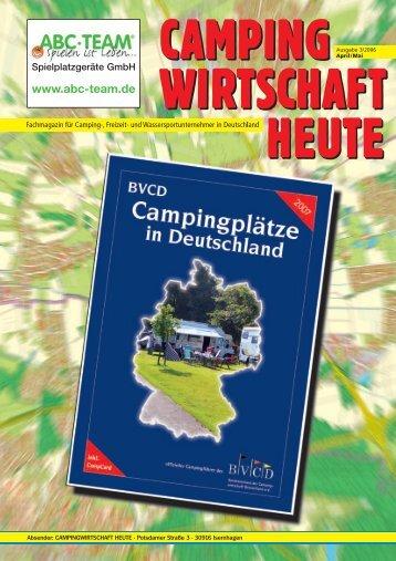 Innovative Ver- und Entsorgungsstationen - Campingwirtschaft Heute