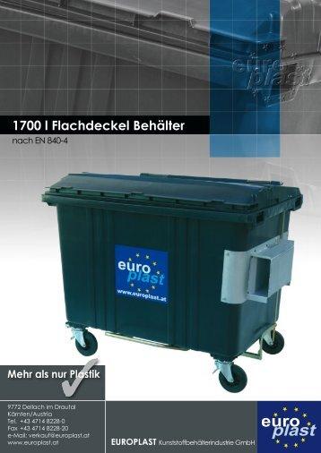 1700 l Flachdeckel Behälter - Europlast
