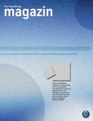 ThyssenKrupp Magazin Werkstoffe - ThyssenKrupp Elevator AG
