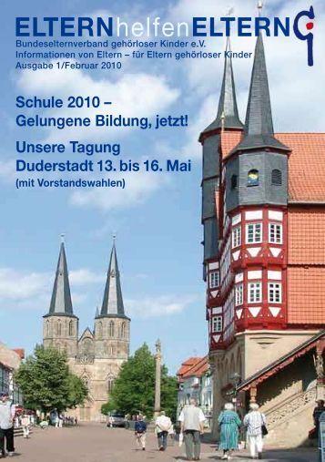 Schule 2010 – Gelungene Bildung, jetzt! - Bundeselternverband ...