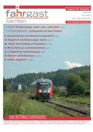 magazin für fahrgäste Start der S-Bahn in das ... - Fahrgast Kärnten
