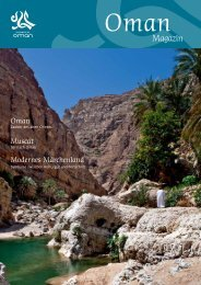 Magazin - Das Sultanat Oman