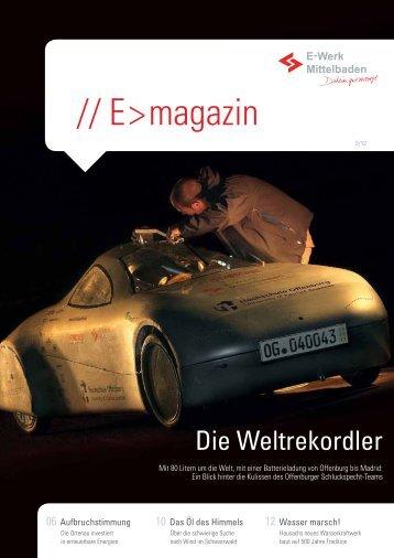 // E > magazin - E-Werk Mittelbaden AG
