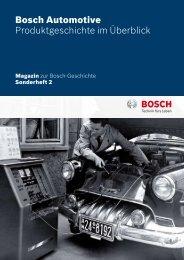 Bosch Automotive Produktgeschichte im Überblick