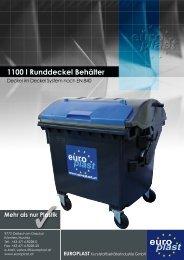 1100 l Runddeckel Behälter - Europlast