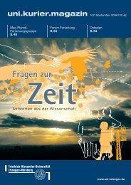 uni.kurier.magazin - Universität Erlangen-Nürnberg