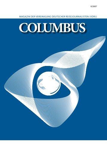 magazin der vereinigung deutscher reisejournalisten (vdrj) columbus