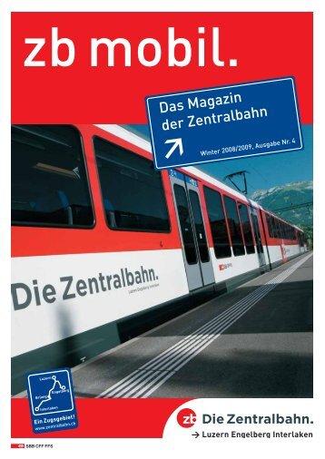 Das Magazin der Zentralbahn