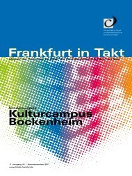 Frankfurt in Takt: Kulturcampus Bockenheim - HfMDK Frankfurt