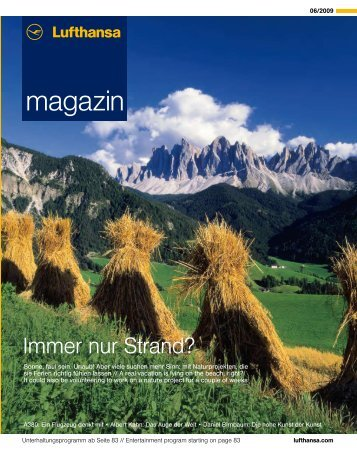 magazin - Lufthansa Media Lounge: Home