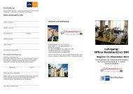 Lehrgang: Office-Assistent(in) IHK - Volkshochschule Steinfurt