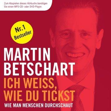 ICH WEISS, WIE DU TICKST MARTIN BETSCHART ... - Audible.com