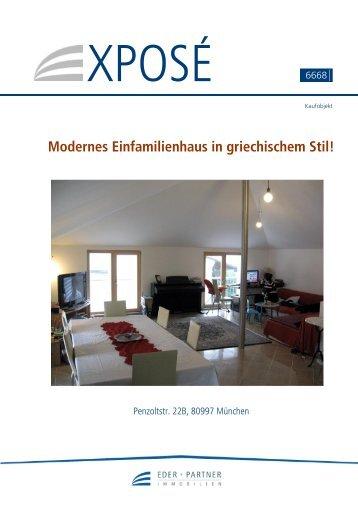 Modernes Einfamilienhaus in griechischem Stil! - Otto Eder ...