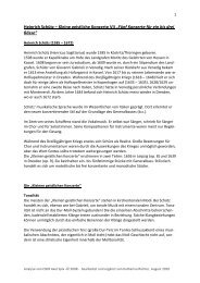 """Heinrich Schütz – Kleine geistliche Konzerte VII """"Fünf Konzerte für ..."""