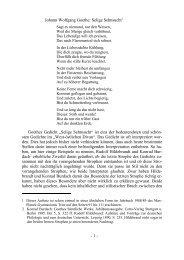 Selige Sehnsucht - Max-Planck-Gymnasium Trier