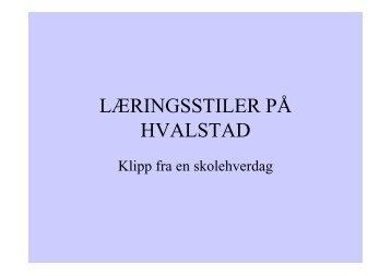 Læringsstiler på Hvalstad - Asker kommune