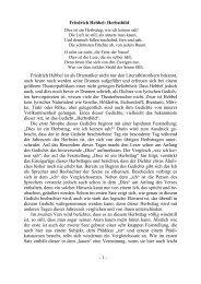 Friedrich Hebbel: Herbstbild Friedrich Hebbel ist als Dramatiker ...