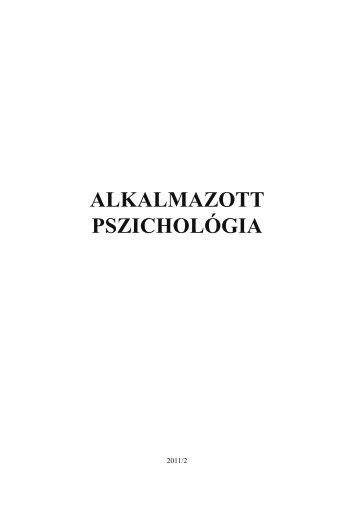 letöltése (PDF) - Alkalmazott Pszichológia - Eötvös Loránd ...