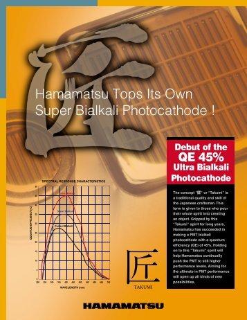 Ultra Bialkali Photocathode - Hamamatsu Photonics