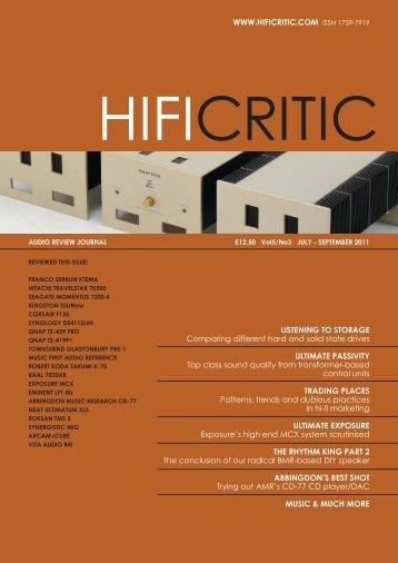 hifi critic - Robert koda