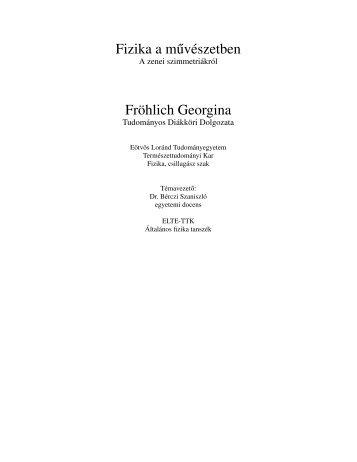 2. fejezet A zenei szimmetriákról - Ludens - Eötvös Loránd ...