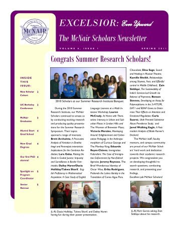 Ever Upward The McNair Scholars Newsletter - Westminster College