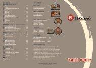 Afhaal (Take-Away) - Takumi