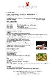 Sommerfest Pauschalangebot von Juni bis September 2012