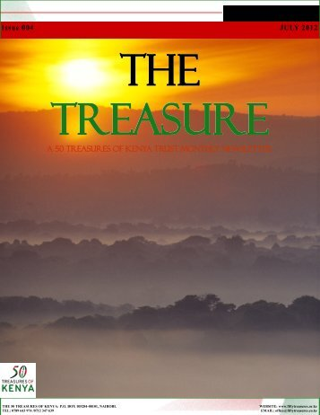 The Treasure Newsletter Issue 4 - 50 Treasures of Kenya