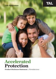 Accelerated Protection Benefits - TAL
