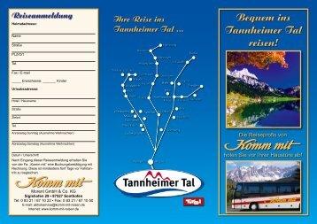 Bequem ins Tannheimer Tal reisen! - Berger Hof